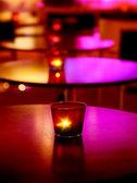 Romantic interior of a luxury restaurant — Stock Photo