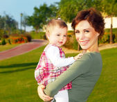 Mather & baby daughter playing — Foto de Stock