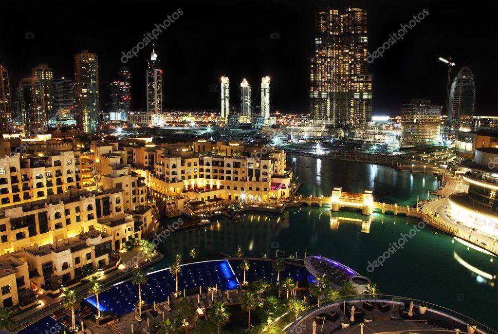 Dubai downtown at night  — Photo #5369078