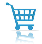 Shopping cart button — Stockfoto