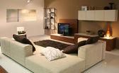 客厅装饰的想法 — 图库照片