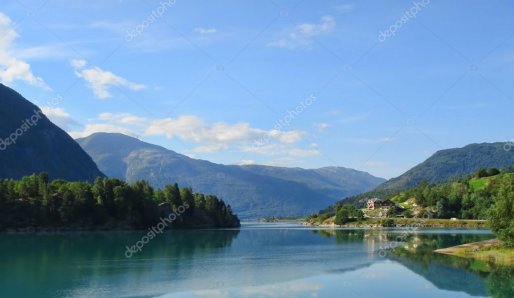 Norway Fjords and Mountains Landscape - europe travel — Stock Photo #5153754