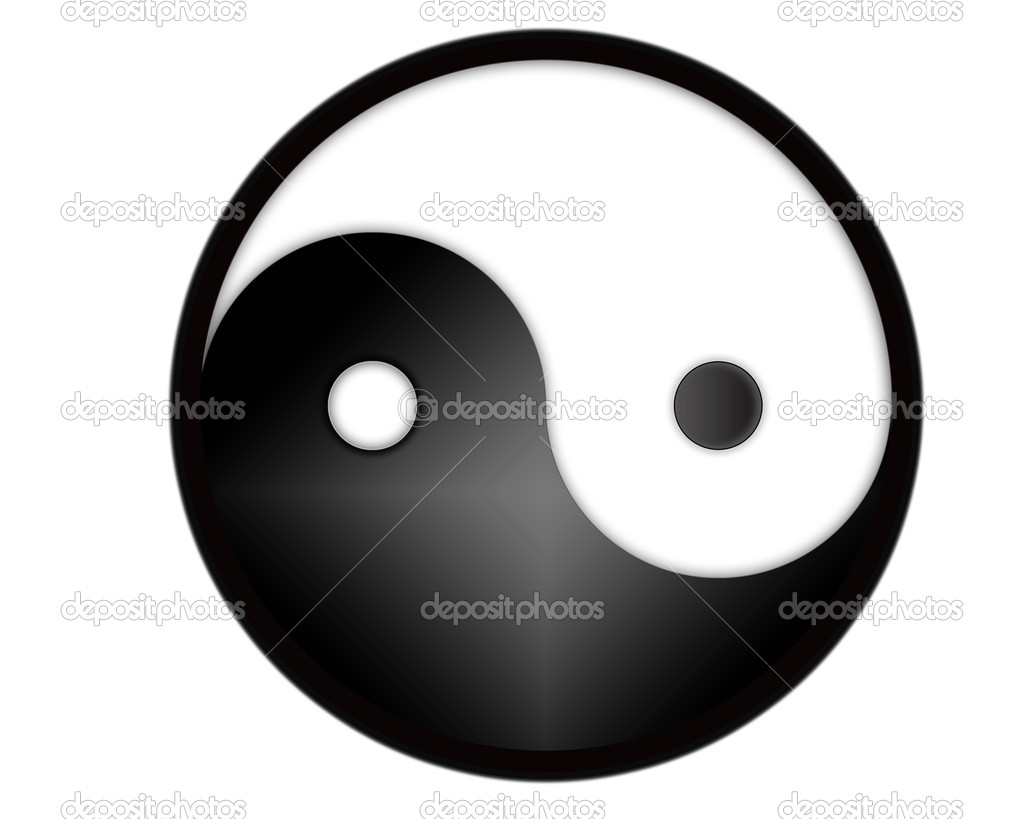 Yin yang tao symbol - computer generated  Stock Photo #5153989