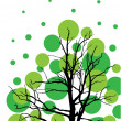 Stock Vector: Green tree background