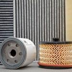 Five various car filters — Stock Photo #5365946