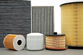 Various car filters — Stock Photo