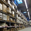 Warehouse with goods packed — Stock Photo