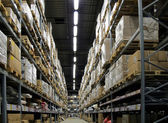 Warehouse full of goods — Stock Photo