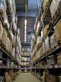 Warehouse with goods — Stock Photo