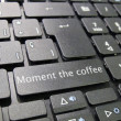 Royalty-Free Stock Photo: Keyboard time for coffee