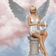 Angels song — Stock Photo