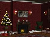 Christmasroom 1 — Stock Photo