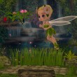 Rosa Bella's fairy world — Stock Photo
