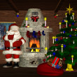 Santa is coming at Home — Stock Photo #5164668