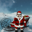 Stock Photo: Santa wait