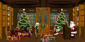 Christmas Workshop — 图库照片