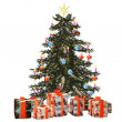 Christmastree with präsent 2 — Stock Photo