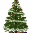 Stock Photo: Christmastree with präsent 3
