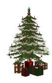 Christmastree with präsent 4 — Stock Photo