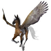 Flying pony — Stock Photo