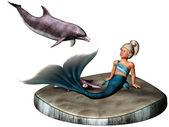 Little mermaid — Stock Photo