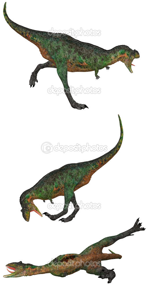 Aucasaurus Dinosaurs from Argentinaisolated on white — Stock Photo #5187445