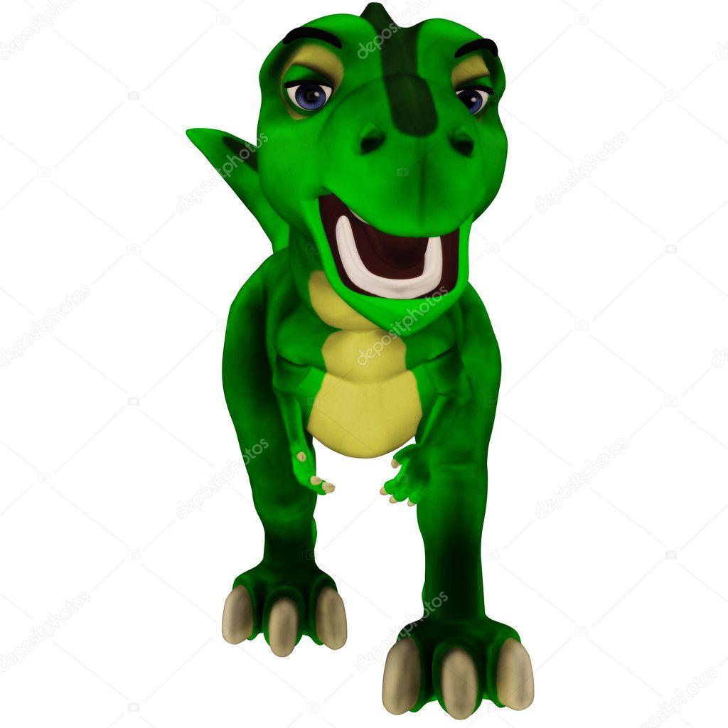 Cartone animato t rex — foto stock gatterwe