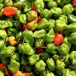Royalty-Free Stock Photo: Chili habanero hottest pepper in Mexico pattern