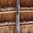 Hut palapa traditional sun roof wiev from above — Stock Photo