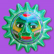 Mexican indian sun handcraft ceramic isolated — Stock Photo