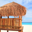 Stock Photo: Baywatch wood brown house in Cancun sunroof