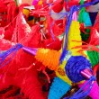 Pinatas star shape mexican traditional celebration — Foto de Stock