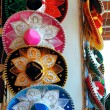 Charro Mexican mariachi colorful hats — Stock Photo