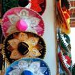 Charro Mexican mariachi colorful hats — Stock Photo
