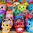 Stock Photo: Aztec skulls MexicDay of Dead colorful