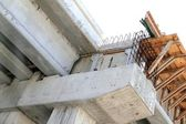 Concrete reinforced bridge construction formwork — Stock Photo