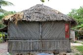 Cabin palapa hut wooden traditional Mexico house — Stock Photo