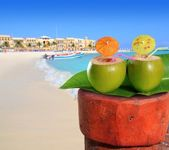 Playa del Carmen mexico Mayan Riviera beach — Stock Photo