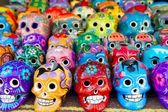 Aztec skulls Mexican Day of the Dead colorful — Stockfoto