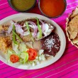 Mojarra garlic mojo tilapia fish Mexico chili sauce — Stock Photo
