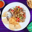 Fajitas de res beef fajita Mexican food - Stock Photo