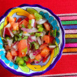 Pico de gallo tomato and chili Mexican sauce — Stock Photo