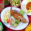 Fried veracruzana grouper fish mexican seafood — Stock Photo