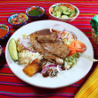 Grilled beef fillet assorted mexican dish chili sauce - 