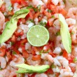 Camaron shrimp ceviche raw seafood salad Mexico — Stock Photo