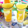 Tequila salt lemon alcohol mexican drink - Stock Photo