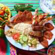 Royalty-Free Stock Photo: Assorted grilled seafood in Mexico tequila chili