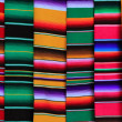 Mexican serape fabric colorful pattern texture — Foto Stock
