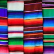 Mexican serape fabric colorful pattern texture — Stock Photo #5282846