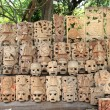 Maywood mask rows Mexico handcraft faces — Stock Photo #5282853